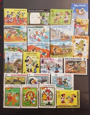 Disney mix 22 mint unhinged stamps