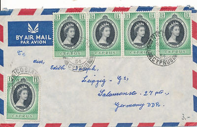 Cyprus Nice Cover to Germany DDR (#17087)