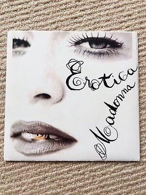 "MADONNA. Erotica 7"" Vinyl With Fan - Made Sleeve."