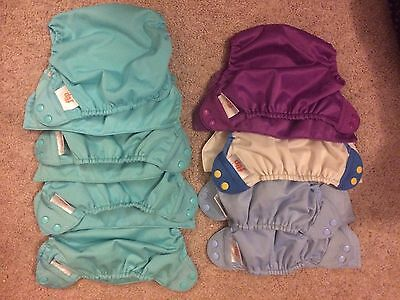 8 Flip Cloth Diaper Covers- Used; great condition - 8-35 lb. One size