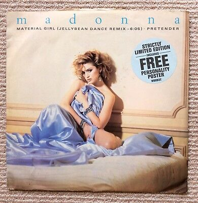 "MADONNA. Material Girl UK 12"" Picture Sleeve With Poster."