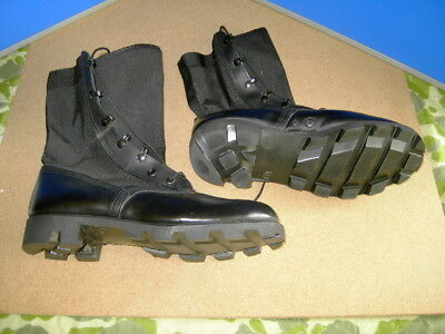 Black Jungle Type Wellco Boots  Size 10 X W - New