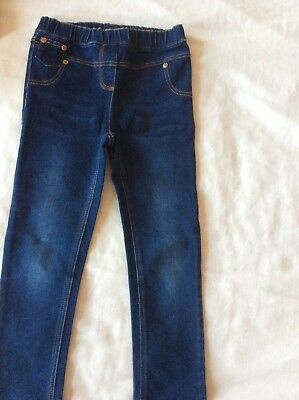 Girls Next Dark Bllue Jeggings/Jeans Age 5-6 years