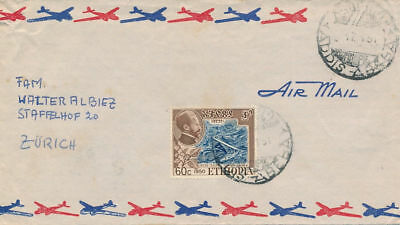 Ethiopia Nice Cover to Switzerland (#17104)