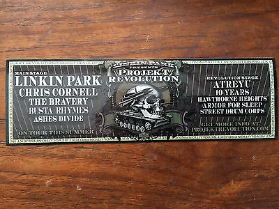 LINKIN PARK project revolution promo sticker 2008 listing of acts Chris Cornell
