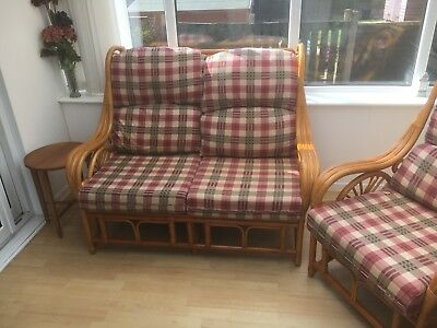 Cane conservatory furniture set
