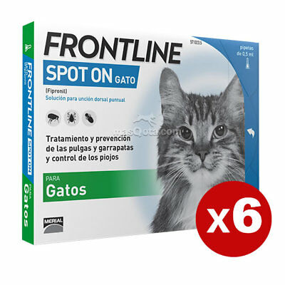 Frontline Spot-On Antiparasite Pour Chats, 6 Pipettes