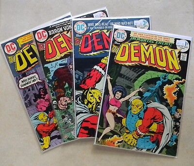 The Demon #10 11 15 16 (Jul 1973-up, DC) $77.00 LOT Avg 8.0 VF Last issue! KIRBY
