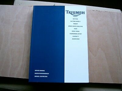 Triumph Factory Service manual. Trophy,Daytona,Trident,Sprint,Tiger and more