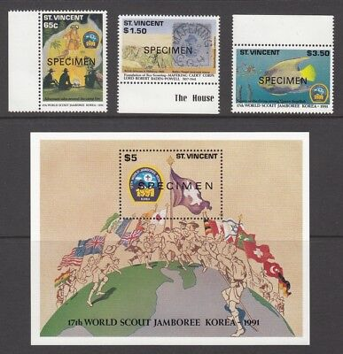 1991  St Vincent World Scout Jamboree and the 50th Anniversary of the Death of L