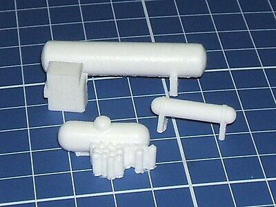 N scale lot of propane tank resin parts