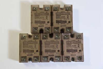 Solid State Relay Omron G3NA-410B Input 5-24VDC 10A Output 200-480VAC Lot of 5EA