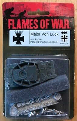 Flames of War GE887 Major Vol Luck (MINT) Retail $13.00 FREE SHIPPING!