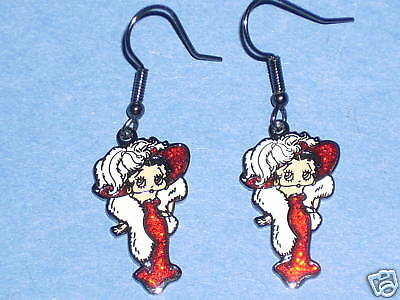 BETTY BOOP 'Mae West' pose - earrings GIFT BOXED