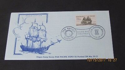 1983 Pan Pacific Expo Various Different Ships. Oregon Stamp Society.