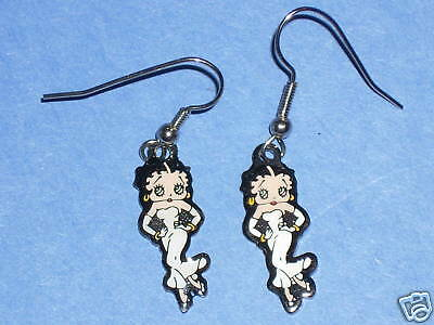 BETTY BOOP white dress - earrings ear rings GIFT BOXED