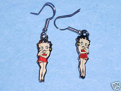 BETTY BOOP  with garter - earrings , ear rings GIFT BOXED