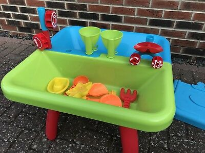 Water & Sand Play Table - With Accessories And Lid