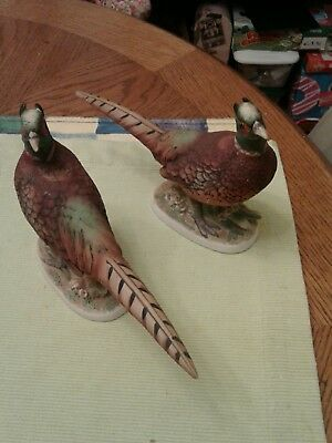 Vintage Set Of 2 Lafson China Pheasant Crown Stamped