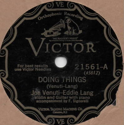 "78er Jazz 20er Jahre Joe Venuti–Eddie Lang ""Doing Things / Wild Cat"""