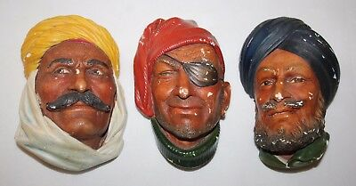 Bossons - A Collection of 3 Chalkware Heads