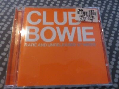 """David Bowie - CD - RARE - CLUB BOWIE - Rare and Unreleased 12"""" Mixes HMV UK 200"""