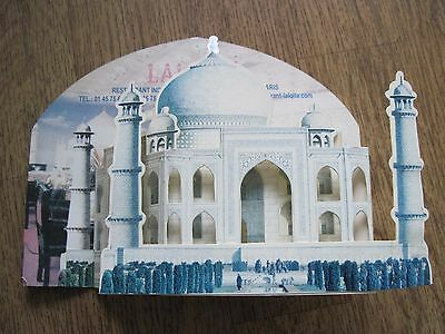 carte pop-up du Taj mahal - temple indien - Comme neuf