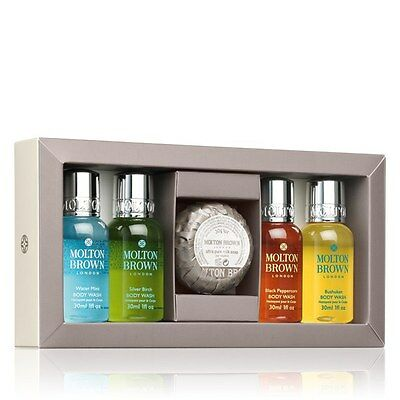 MOLTON BROWN MEN'S GIFT SET (4 X 30ML) Silverbirch, Watermint, Blackpepper - NEW