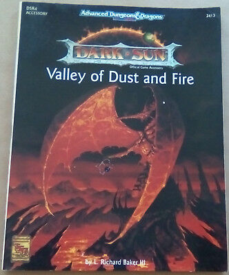 TSR AD&D 2nd EDITION DARK SUN, VALLEY OF DUST AND FIRE