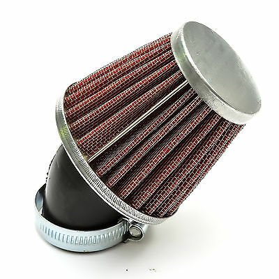Quad Bike Red K N Style Fast Flow GAUZE AIR FILTER 35mm Bent Curved Neck