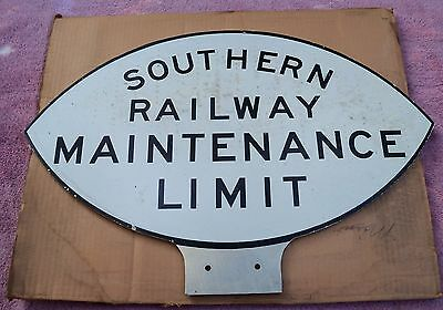 Southern Railroad Maintenance Limit Sign - New Old Stock In The Box