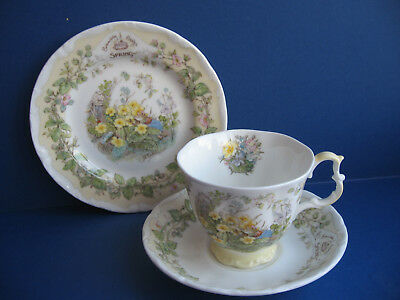 Royal D0Ulton Brambly Hedge Spring Tea Cup Saucer & Tea Plate