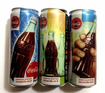 Coca Cola 3 Set Can Coke Slick Vintage Style Unopened Empty Free Shipping World