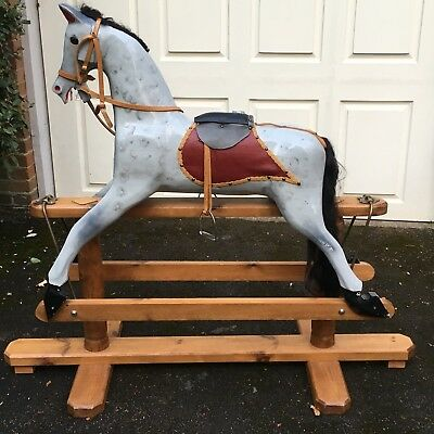 Traditional Wooden Rocking Horse