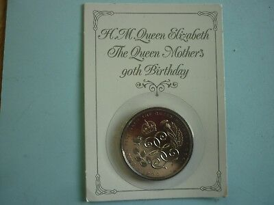 Royal Mint - Queen Mother 1990 90Th Birthday £5 Coin On Display Card