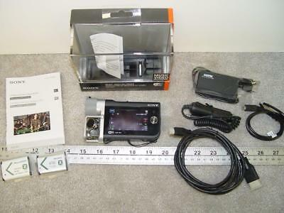 Sony Music video recorder HDR-MV1 BC with 3 Batteries and Car Charger cord.