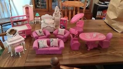 Vintage barbie furniture lot