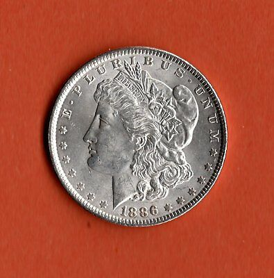 1886 Morgan Dollar Silver - Philadelphia Mint - Unc