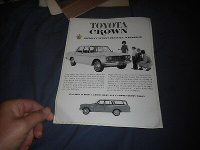1960s Toyota Crown USA Market Brochure Prospekt