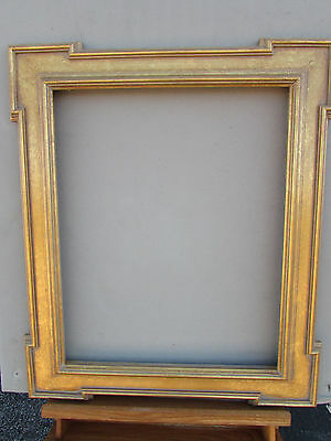 Rare Hy-Jo Premium Collection Keycorner Gold Leaf Wooden Picture Frame  20X24