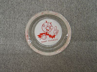 Vintage Reddy Kilowatt Electric Company Promo Rare Clear Glass Ashtray Free Ship