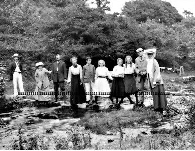 PHOTOGRAPHIC GLASS SLIDE LAVENDER MILL NEWQUAY CORNWALL c 1900