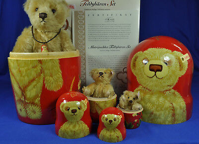 Steiff Matrijoschka Set / Nesting 038198, 3 Teddy Bären / Bears, KF / IDs, limit