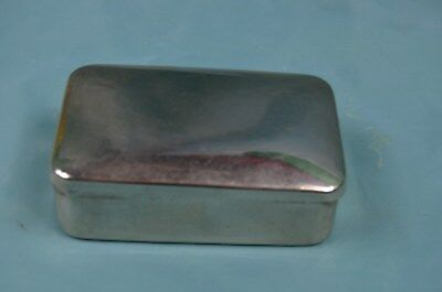 A Very Practical Plated And Lined Gents Soap Tin For The Traveller