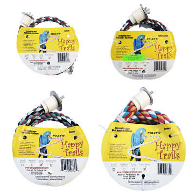 Polly's Happy Trails Bird Perch: Flexible Soft Cotton Parrot Rope Perches