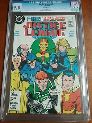 Justice League #1 CGC 9.8 White Pages 1st Appearance  Maxwell Lord