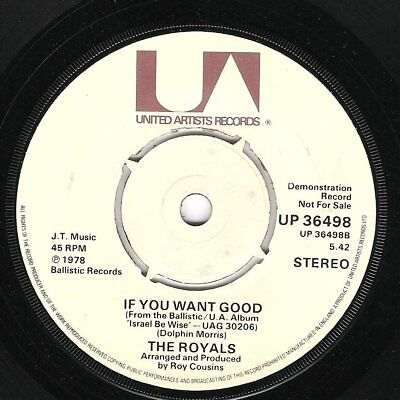 ♫ LISTEN - THE ROYALS - If You Want Good (Your Nose A Fe Run)