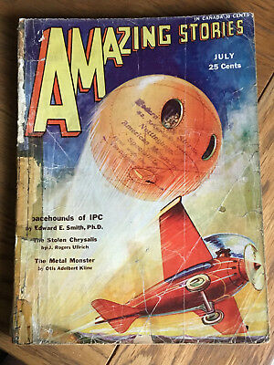 Amazing Stories - US pulp - July 1931 - E. E. Smith - Spacehounds of IPC