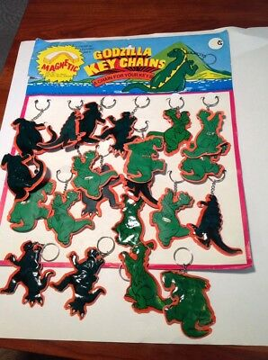 21 Vintage Godzilla Key Chains With Store Display Monster So Cool
