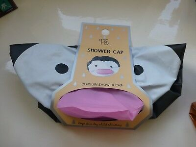 PENGUIN XMAS Hair Cover Shower Cap Novelty Funny Bathroom Gift Ladies Girls